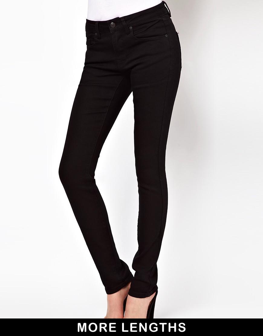 Image 1 ofASOS Supersoft Black Skinny Jeans