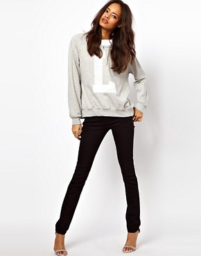Image 4 ofASOS Supersoft Black Skinny Jeans