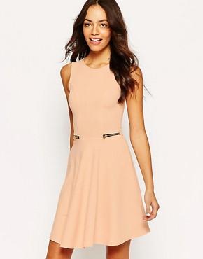 New Look Zip Detail Skater Dress