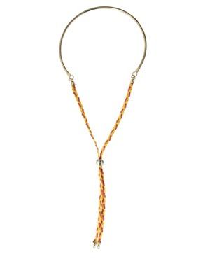 Image 1 ofASOS Torque Necklace With Friendship Tie
