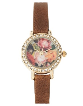 Image 1 ofRiver Island Watch With Floral Face