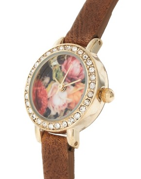 Image 4 ofRiver Island Watch With Floral Face
