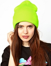 American Apparel Neon Cuffed Beanie