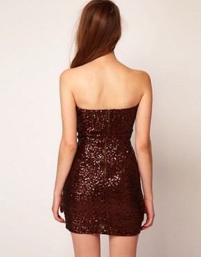 Image 2 of TFNC Bandeau Sweetheart Sequin Dress
