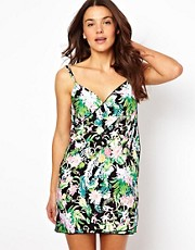 Sunseeker Tropicana Print Wrap Beach Dress