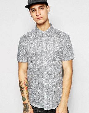 Silver Eight Printed Short Sleeve Shirt