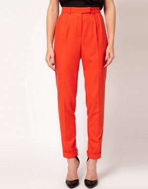Image 4 ofASOS Super Soft Tapered Leg Trousers