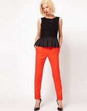 ASOS Super Soft Tapered Leg Trousers