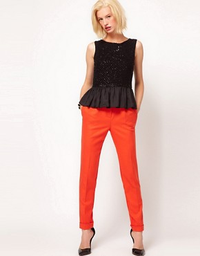 Image 1 ofASOS Super Soft Tapered Leg Trousers