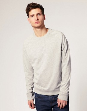 Image 1 ofASOS Raglan Crew Neck Sweatshirt