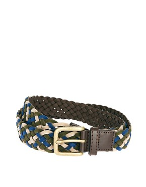 Image 1 ofASOS Khaki Plait Belt