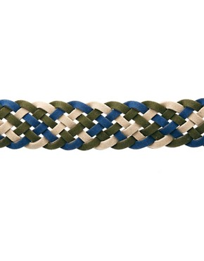 Image 4 ofASOS Khaki Plait Belt