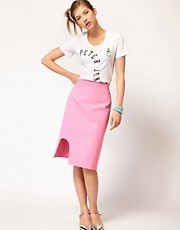 Peter Jensen Cut Away Skirt in Canvas