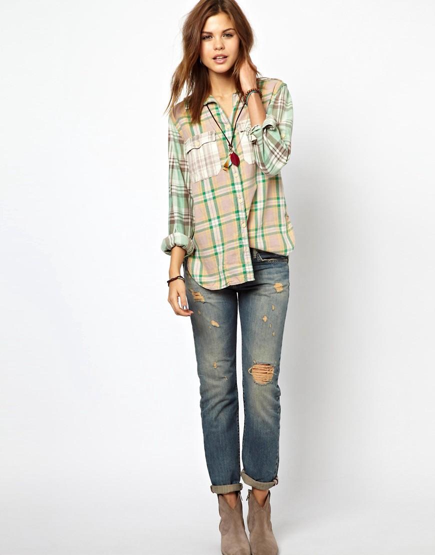 Image 4 ofDenim & Supply By Ralph Lauren Distressed Boyfriend Jeans