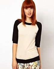 WoodWood Janice Sweater with Contrast Sleeves
