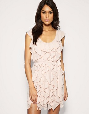 Image 1 ofASOS Soft Frill Belted Dress