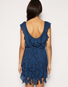 Image 2 ofASOS Soft Frill Belted Dress