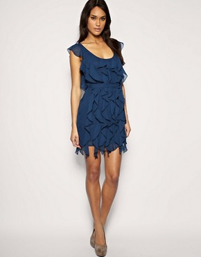 Image 4 ofASOS Soft Frill Belted Dress