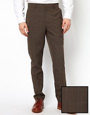 ASOS Slim Fit Check Smart Trousers