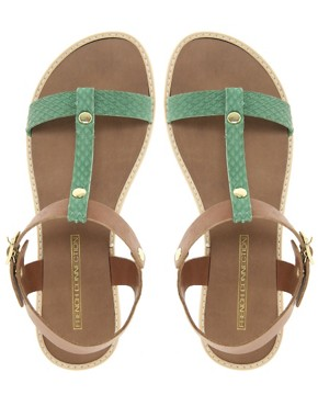 Image 3 ofFrench Connection Perry T-Bar Flat Sandals