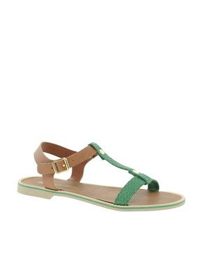 Image 1 ofFrench Connection Perry T-Bar Flat Sandals