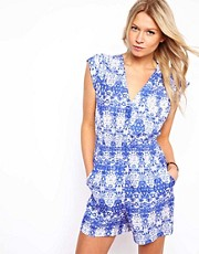 Mango Printed Playsuit