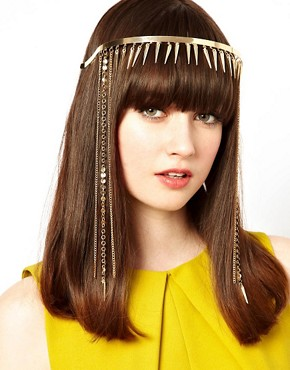 Image 1 ofASOS Hanging Spike Head Band