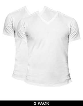 Image 1 ofPolo Ralph Lauren 2 Pack V-Neck T-Shirt