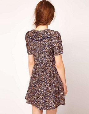 Image 2 ofDahlia Forties Floral Skater Dress