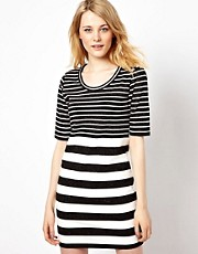 Vila Dress with Glitter Stripes
