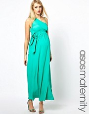 Esclusiva ASOS Maternity - Vestito lungo monospalla