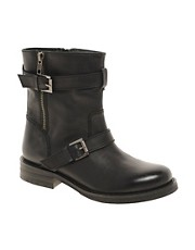 ASOS AMERICA Leather Biker Boots