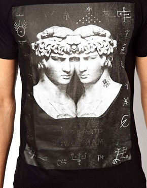 Image 3 ofYour Eyes Lie T-Shirt with Statue Print
