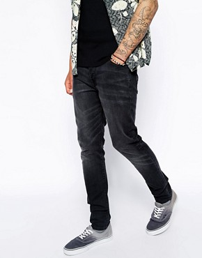 ASOS Skinny Jeans In Black Wash