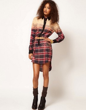 Image 4 ofASOS Shirt Dress In Bleach Check