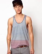 ASOS Stripe Tank With Racer Back