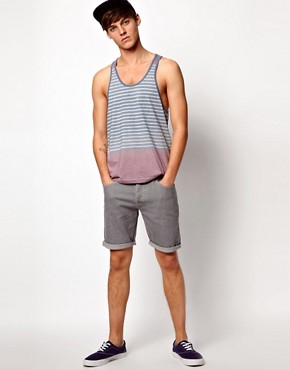 Image 4 ofASOS Stripe Vest With Racer Back