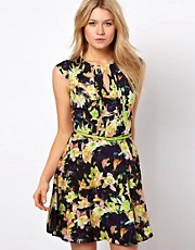 Oasis Photo Floral Skater Dress