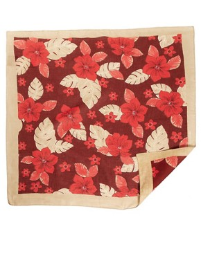 Image 2 of ASOS Neckerchief with Hawaiian Print