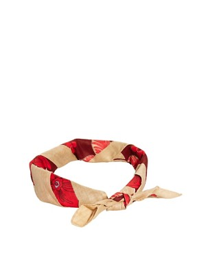 Image 1 of ASOS Neckerchief with Hawaiian Print