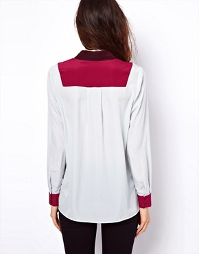 Image 2 of ASOS Shirt With Colourblock And Pocket