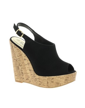 Image 1 ofNew Look Highness Vamp Wedge Sandals