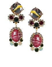 ASOS Marbled Stone Drop Earring
