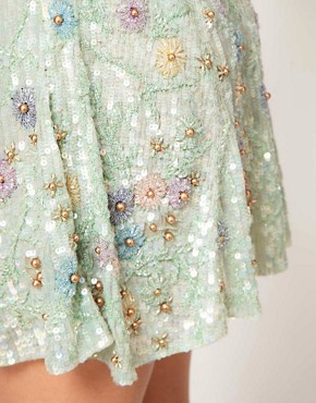 Image 3 ofASOS Embellished Skirt with Floral Embroidery