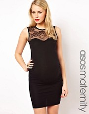 ASOS Maternity Body-Conscious Dress With Lace Insert