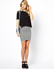 Vila Stretch Printed Mini Skirt