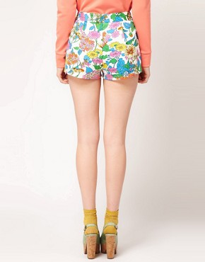Image 2 ofASOS Floral Printed Premium Short