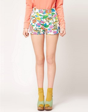 Image 4 ofASOS Floral Printed Premium Short