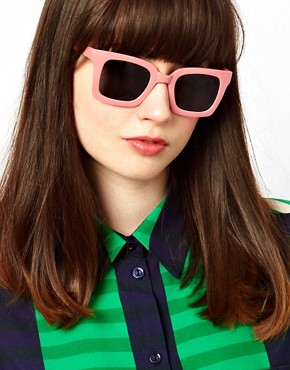 Image 3 of ASOS Square Retro Sunglasses