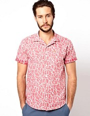 Camisa con estampado marmolado de Farah Vintage